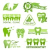 Classic dental logos and labels vector graphics 03