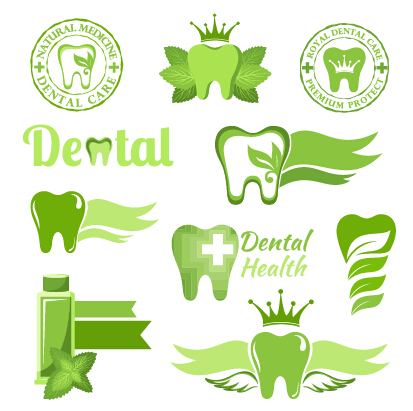 classic dental logos and labels vector graphics 05 free download