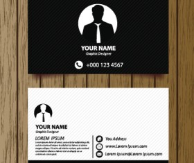 Classic modern business cards vector material 02