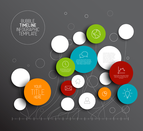 Colored circles infographic template vector graphics 01 - Vector ...