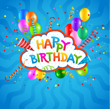 birthday background vector 02 - Vector Background, Vector Birthday ...: freedesignfile.com/102722-colored-confetti-with-happy-birthday...