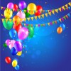 Colored confetti with happy birthday background vector 03