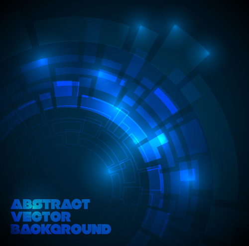 Concept dark blue technical vector background 04 – Over ...