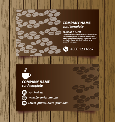 creative coffee house business cards vector graphic 03 over