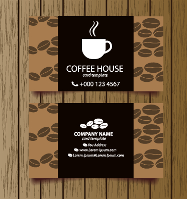 Creative Coffee House Business Cards Vector Graphic 04