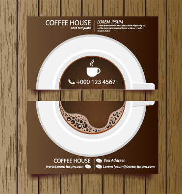 Creative coffee house business cards vector graphic 05 free download creative coffee house business cards vector graphic 05 wajeb