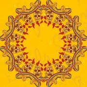 Link toCreative floral skulls frame vector background 03