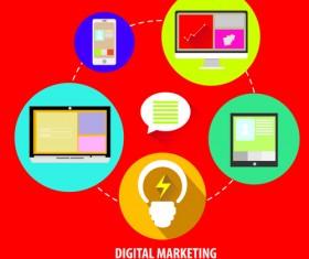 Creative marketing design infographics vector 04