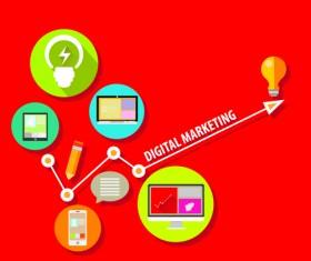 Creative marketing design infographics vector 05