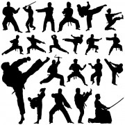 Link toCreative martial art vector silhouettes