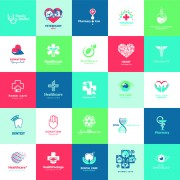 Link toCreative medical and healthcare logos vector set 04