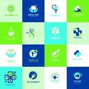 Link toCreative medical and healthcare logos vector set 05