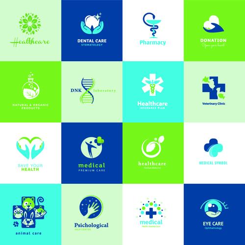 creative medical and healthcare logos vector set 05 - vector logo