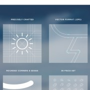 Link toCreative outline weather icons vector