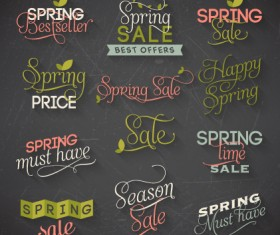 Creative spring typography vector material