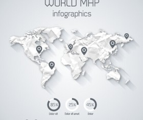 Creative world map and infographics vector graphics 03