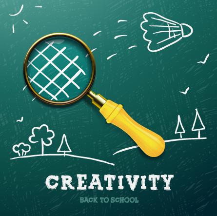 Creativity school design vector background 04