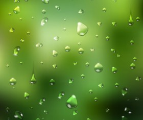 Crystal water drops with blurred background art 02