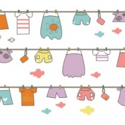 Link toCute hand drawn hang the clothes vector background