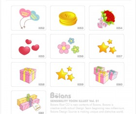 Cute kids toy with elements icons vector 03