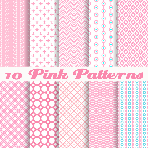 Cute Pink Pattern Vector Graphics Free Download