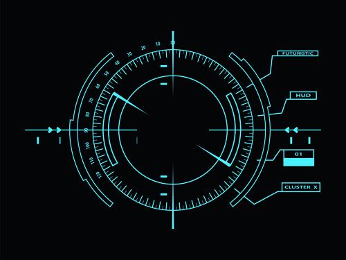 Dark Blue Futuristic Concept Background Vector 01