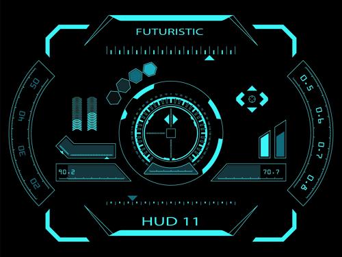 Dark Blue Futuristic Concept Background Vector 05 Over