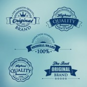 Link toDark blue premium quality labels vector