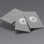 Dark gray business cards template psd