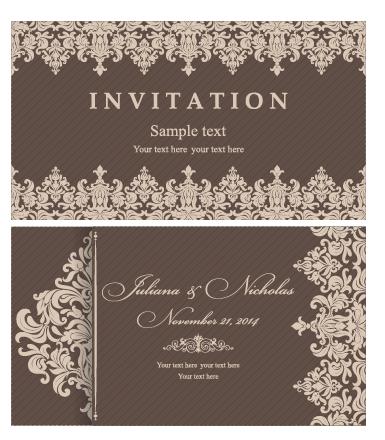 Decorative pattern wedding invitation cards vector set 05 vector decorative pattern wedding invitation cards vector set 05 stopboris Image collections