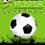Delicate soccer poster background vector graphics 02