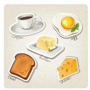 Link toDifferent breakfast food vector icons material 01