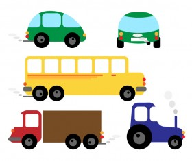 Different cartoon car design vector
