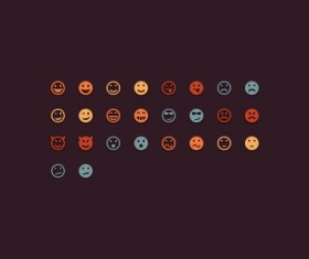 Different emoticons creative psd icons
