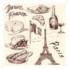 Drawing foods retro illustrations vector 03