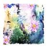 Drawn watercolor flower art background vector set 08