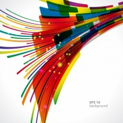 Link toDynamic colored abstract elements vector 01