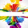 Dynamic elements and grunge background vector 03