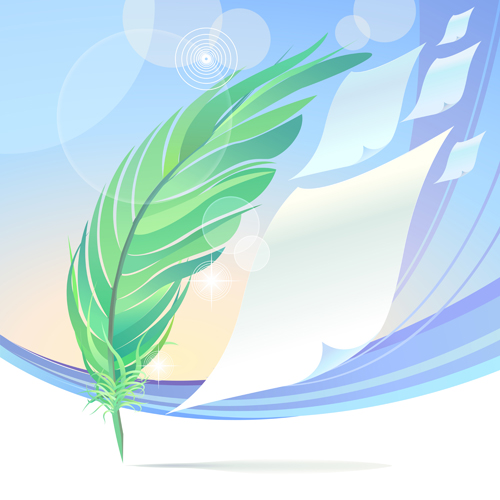 Dynamic feather with background vector set 06 free downloadFeather Background Twitter