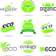 Link toEco with natural logos and labels vector 02