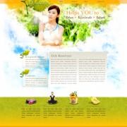 Elegant female style website template vector
