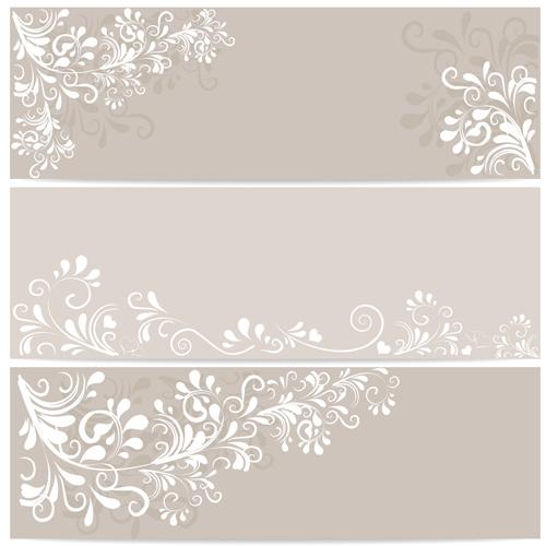 Elegant Floral Ornament Banner Vector Material  Over Millions