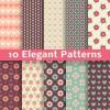 Elegant floral patterns vector material