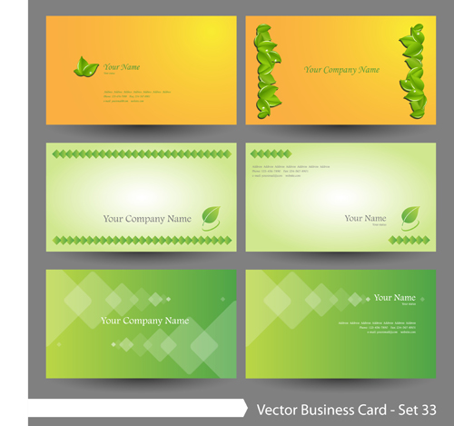 Elegant green natural business cards vector 01 vector card free elegant green natural business cards vector 01 reheart Gallery