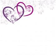 Link toElegant heart with floral background vector 03