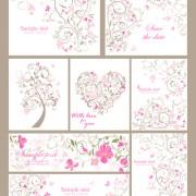 Link toElegant ornaments floral background vector 04