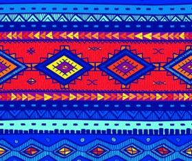 Ethnic style tribal patterns graphics vector 01