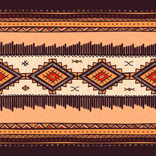 Ethnic Style Tribal Patterns Graphics Vector 02 Vector