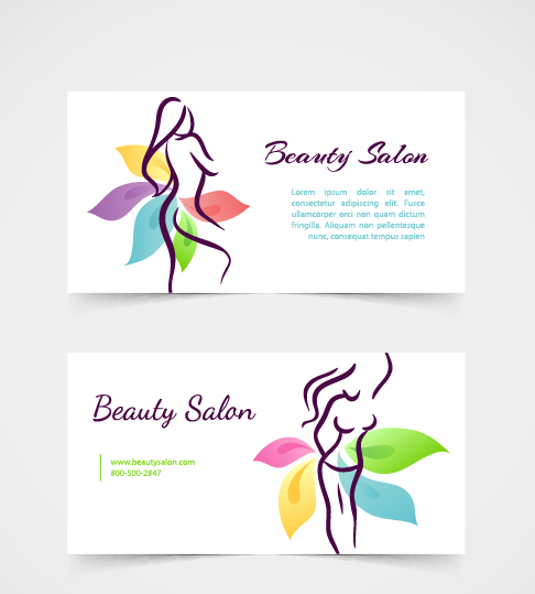 Exquisite Beauty Salon Business Cards Vector Material 01 Free Download