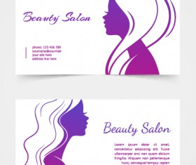 Exquisite beauty salon business cards vector material 02